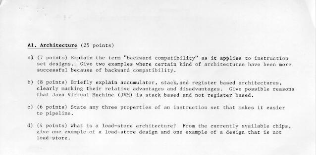 Preliminary Exam Questions 1999
