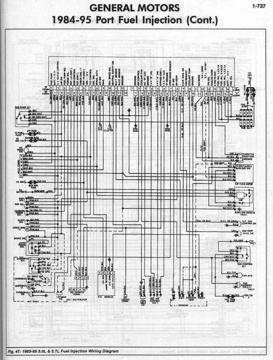 85-870v8MAF  Chevy Engine Wiring Diagram on