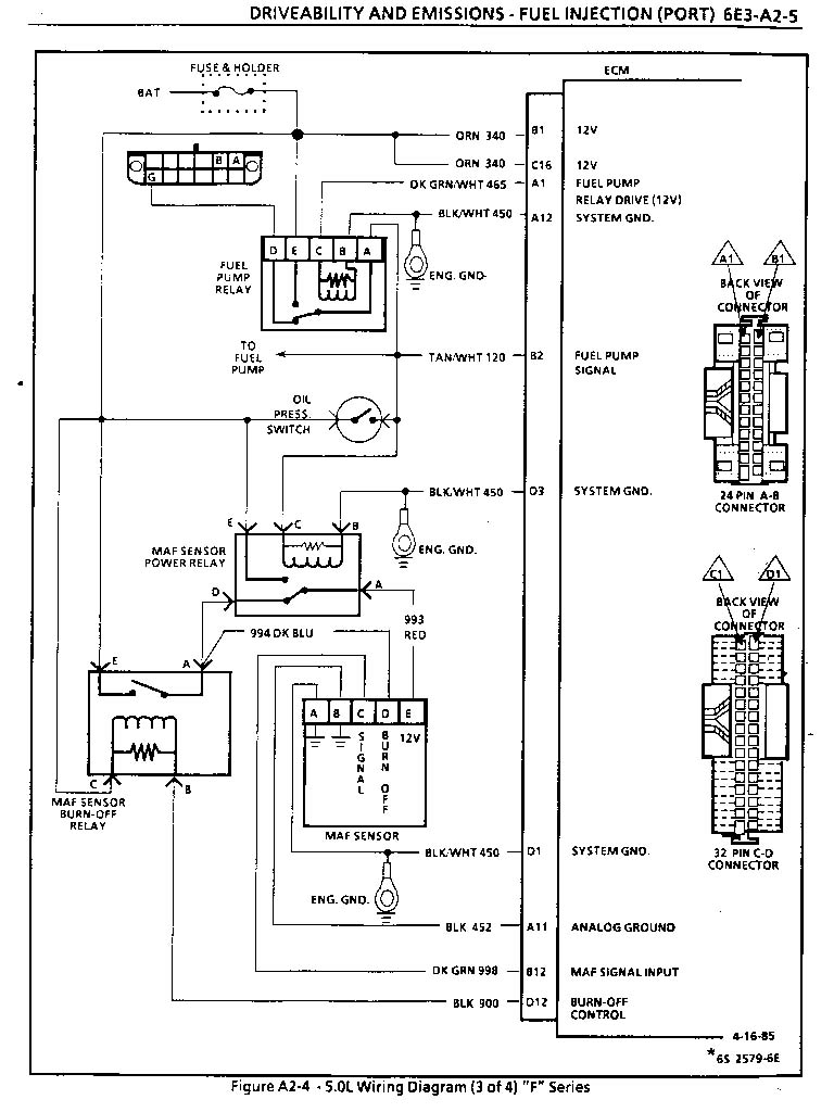 ... 86 ECM wiring (MAF) diagram