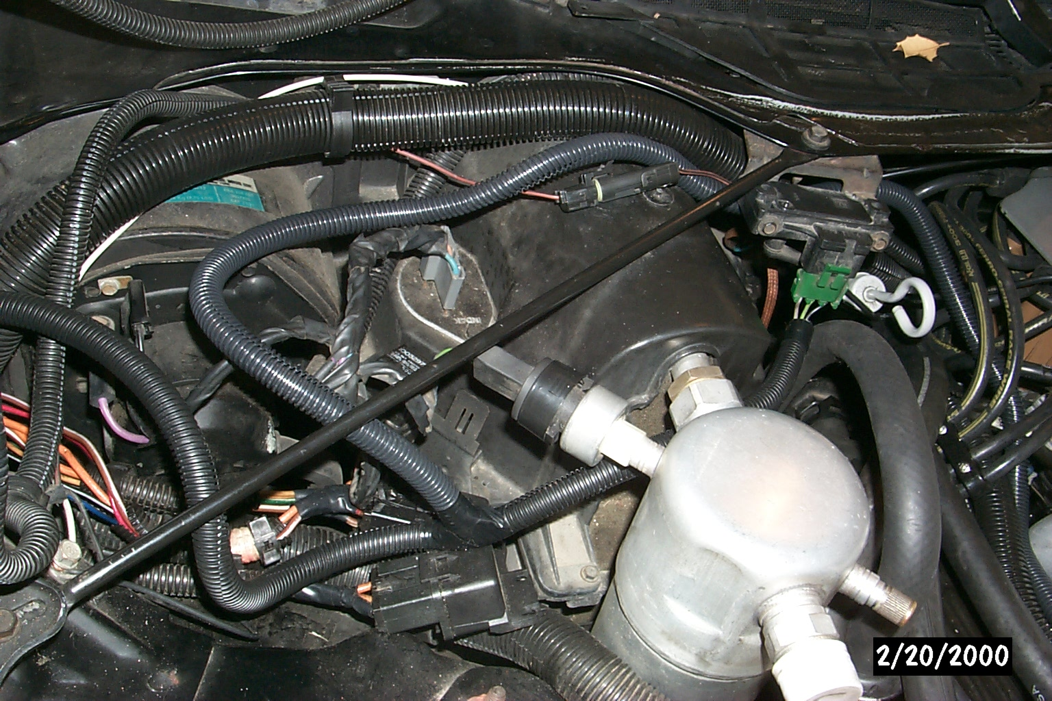 My 85 Z28 And Changing A 165 Ecm To 730 Wiring Car Engine Black Plastic Conduit Used For All Clean Look